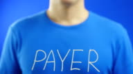 Writing the word.  PAYER video