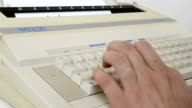 Writing to a 1980s Electric Typewriter video