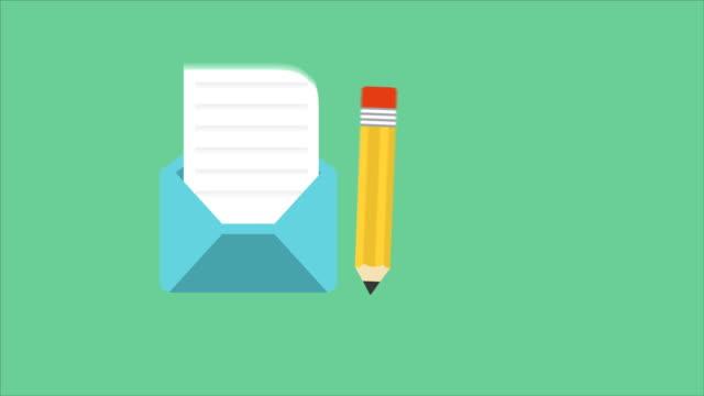 Writting letter video