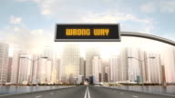 Wrong Way Traffic Sign video