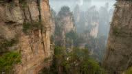 Wulingyuan mountain timelapse video
