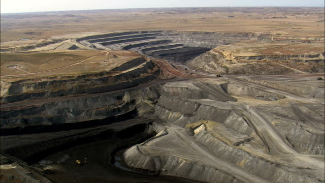 Wyodak Mine  - Aerial View - Wyoming, Campbell County, United States video