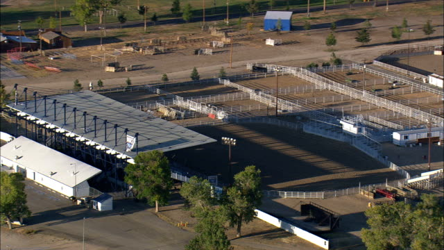 Wyoming State Fair and Rodeo Ground - Aerial View - Wyoming, Converse County, United States video