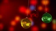 Xmas baubles decoration. video
