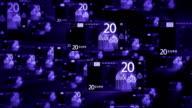 X-Ray 20 EURO bill flying video