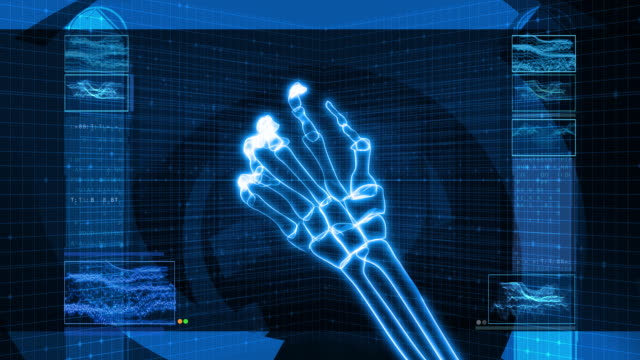 X-Ray of Human Hand Grasping (HD) video