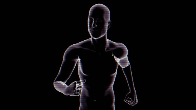 X-ray of Running Man | Loopable video