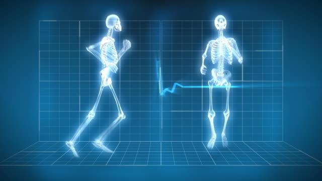 X-Ray Skeleton Running video