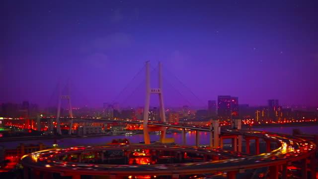 Xu Pu bridge in Shanghai video
