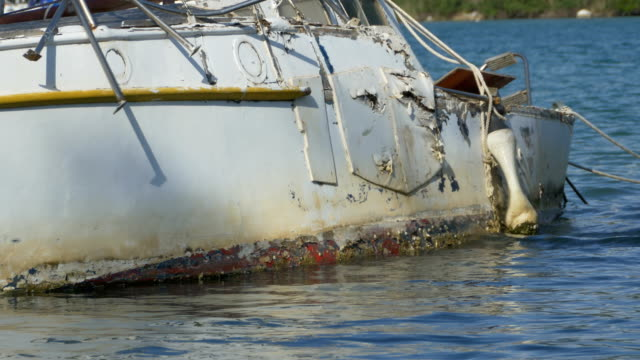 Yacht Hull Wreck on Waters video