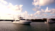 Yacht in harbour video