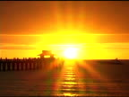 Yacht on the Gulf of Mexico at Sunset NTSC video