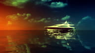yacht sunset video