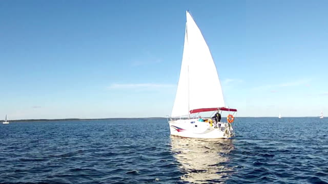 Yacht under sail. video