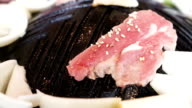 Yakiniku beef grilled video