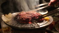 Yakiniku Japanese style of grilled meat video