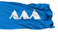 Yamagata Prefecture Isolated Waving Flag video