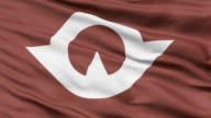 Yamaguchi Prefecture Isolated Waving Flag video