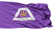 Yamanashi Prefecture Isolated Waving Flag video