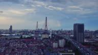 Yangpu Bridge Elevated and Rainbow Time lapse video