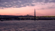 Yavuz Selim Mosque at unset in Istanbul Turkey video