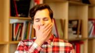 Yawning young Man video