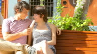 Yeah couple eat ice cream together video