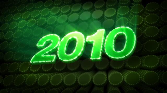 Year 2010 - Glitter Sparkle Text video