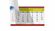 Year 2012 desk calendar, alpha included video