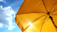 Yellow Beach Umbrella video