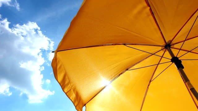 Yellow Beach Umbrella video