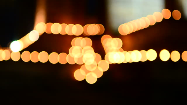 Yellow bokeh lighting video