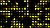 Yellow Circles Music Video Background - Grid of Dots with Random Generative Effect on Black Background video