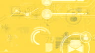 Yellow Corporate Background With Abstract Elements Of Infographics video