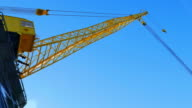 Yellow Crane with Cable, Blue Sky video