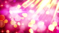 yellow pink blinking bokeh lights loop video