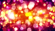 yellow pink bokeh lights loopable background video