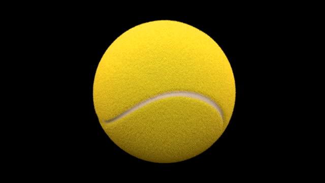 Yellow Tennis Ball Rotating Full Screen video