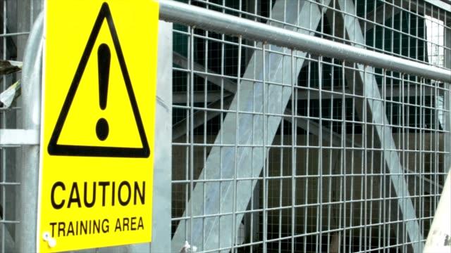 Yellow warning sign video