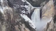 HD yellowstone lower falls waterfall video