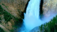 Yellowstone National Park Lower Falls view.  Yellowstone National Park, Wyoming USA. video