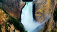 Yellowstone National Park waterfall.  Yellowstone National Park, Wyoming USA video