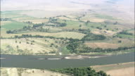 Yellowstone River  - Aerial View - Montana, Custer County, United States video