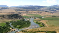 Yellowstone River - Aerial View - Montana, Park County, United States video