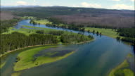 Yellowstone River  - Aerial View - Wyoming,  Park County,  helicopter filming,  aerial video,  cineflex,  establishing shot,  United States video