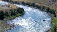 Yellowstone River at Gardiner - Aerial View - Montana, Park County, United States video