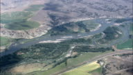 Yellowstone River Near Custer  - Aerial View - Montana, Yellowstone County, United States video