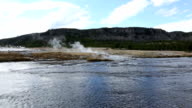 Yellowstone River With Sulfur Fumes video