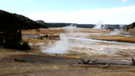 Yellowstone River with Sulfur Steam Pots video