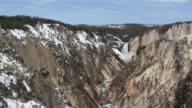 HD yellowstone waterfall - lower falls video